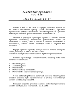 Zlatý klas 2015 - Výstaviště České Budějovice as