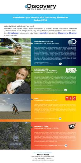 Newsletter pro stanice sítě Discovery Networks leden 2016