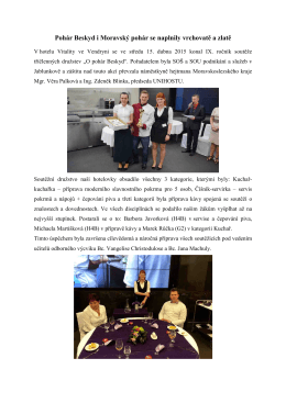 Pohár Beskyd i Moravský pohár se naplnily vrchovatě a zlatě