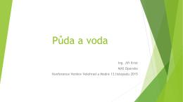 Půda a voda - Národní konference VENKOV 2015