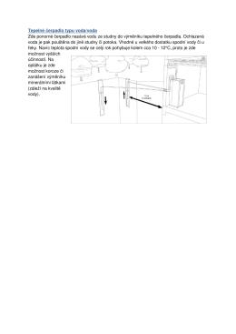 Tepelné čerpadlo typu voda/voda Zde ponorné čerpadlo nasává