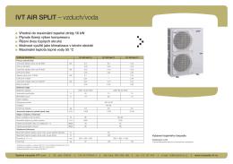IVT AIR SPLIT – vzduch/voda