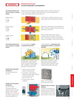 Vytváření kondenzované vody v elektrických zařízeních