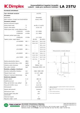 Vysoceefektivní tepelné čerpadlo vzduch