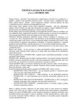 HYDROCARE - verze pro www stránky