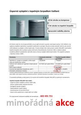 Úsporné vytápění s tepelným čerpadlem Vaillant