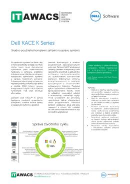 Produktový list Dell KACE K series