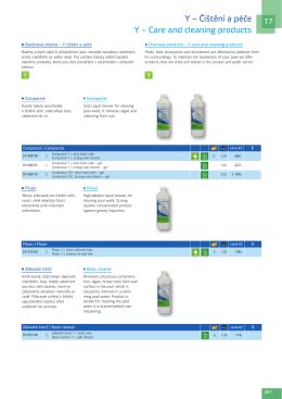 Y – Čištění a péče Y – Care and cleaning products