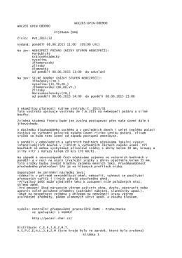 Meteorologická výstraha WOCZ65-OPIN