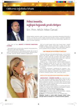 Prim. MUDr. Milana Čarvaše – Silná imunita - EFT