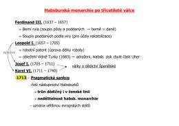 Habsburská monarchie po třicetileté válce Ferdinand III.