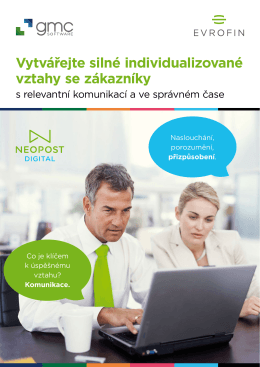 Vytvářejte silné individualizované vztahy se zákazníky