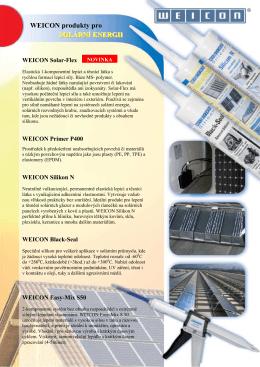 Prospekt solární technologie
