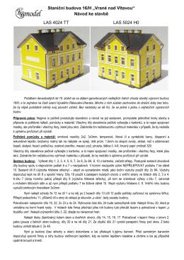 Aktualizovaný návod na stavbu v PDF