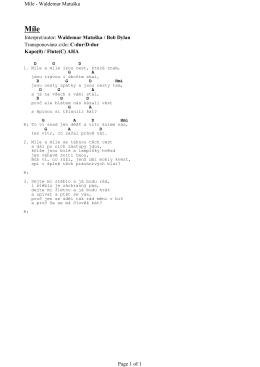 C-dur/D-dur Kapo(0) / Flute(C) AHA Míle