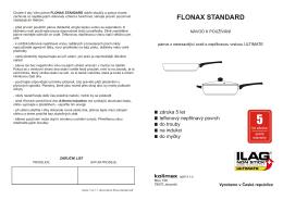 návod pánve flonax standard