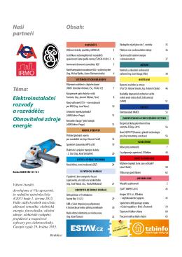 Elektroinstalatér 3/2015 - TZB-info
