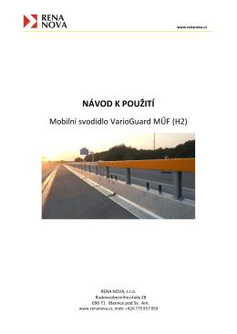 Návod k použití - VarioGuard MUF