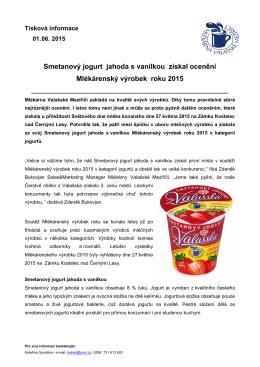 Mlékárenský výrobek roku 2015
