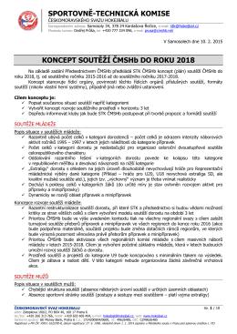 Koncept soutěží do roku 2018 - HBC Plzeň