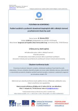 Konference Posílení sociální a profesních dovedností