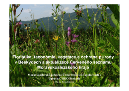 Floristika, taxonomie, vegetace a ochrana přírody v Beskydech a