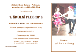 Základní škola Ostrava - Petřkovice ve spolupráci s rodiči našich