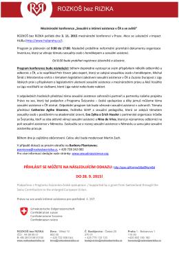 Informace ke konferenci RR - 3.11.2015PDF