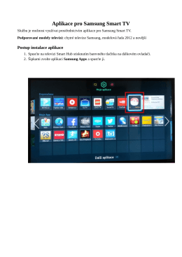 Instalace sledovaniTV-Samsung