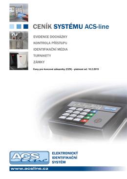 Ceník komponentů systému ACS-line CZ platný od 10. 2. 2015