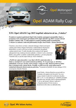16. 4. 2015 ADAM Cup po Valašské Rally