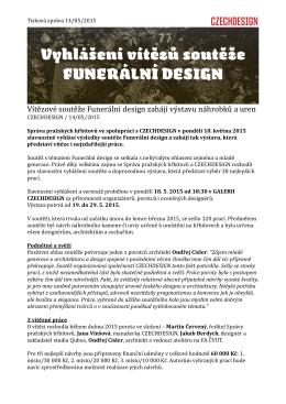 Vítězové soutěže Funerální design zahájí výstavu
