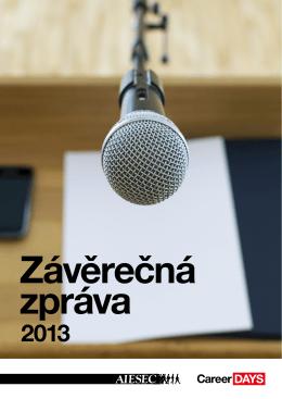 Závěrečná zpráva 2013