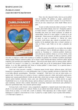 Článek z měsíčníku šumperského děkanátu Tam&Tam Duben 2015
