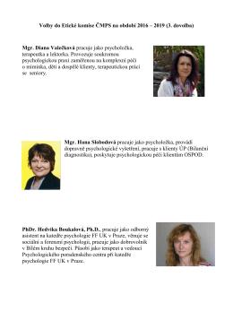 Volby do Etické komise ČMPS na období 2016 – 2019 (3. dovolba