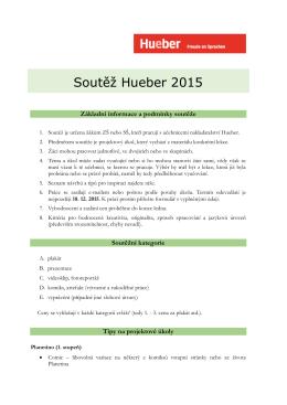 Soutěž Hueber 2015 - Informační stránky GVM