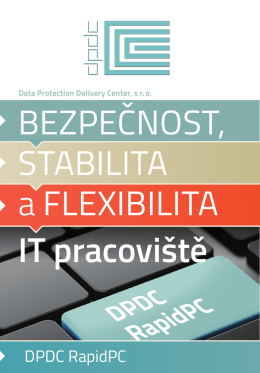 IT pracoviště - Data Protection Delivery Center, sro