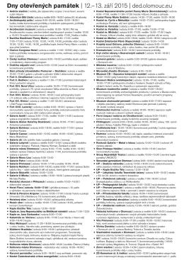 Seznam památek ke stažení