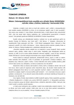 19.3.2015 Tisková zpráva - výsledky finále soutěže DOODPADU