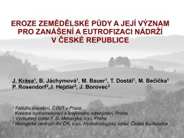 Eroze zemědělské půdy - Konference VODNÍ NÁDRŽE
