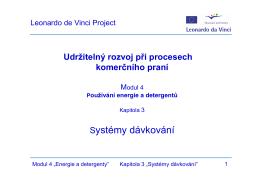 Dávkovací systémy - Leonardo Sustainability
