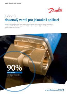 EV251B dokonalý ventil pro jakoukoli aplikaci