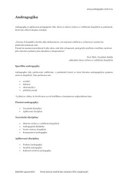 Andragogika - Pedagogika spolužákům a sobě