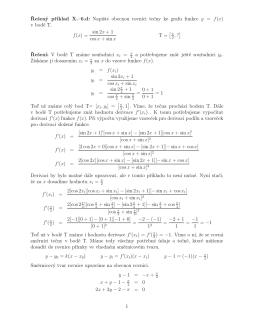 Napište obecnou rovnici tečny ke grafu funkce y = f(x)