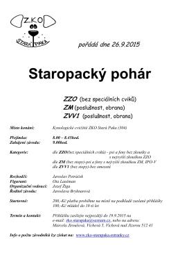 Staropacký pohár ZZO