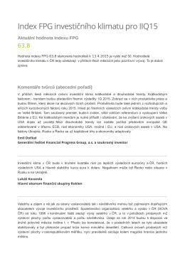 IIQ/2015 - Financial Progress Group as