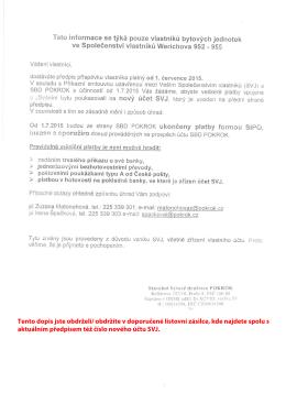 Tento dopis jste obdrželi/ obdržíte v doporučené listovní zásilce, kde