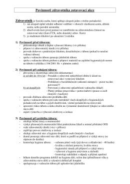 Povinnosti zdravotníka tábora (akce)