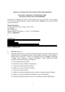 Smlouva o poskytování služeb vedoucího projektu