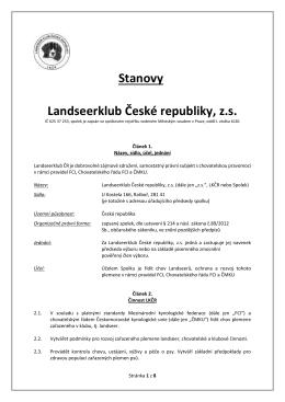 Stanovy Landseerklub České republiky, z.s.